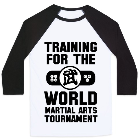 Training for the World Martial Arts Tournament Baseball Tee