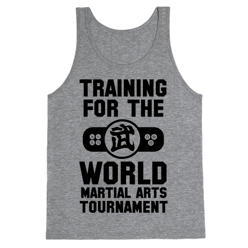 Training for the World Martial Arts Tournament Tank Top