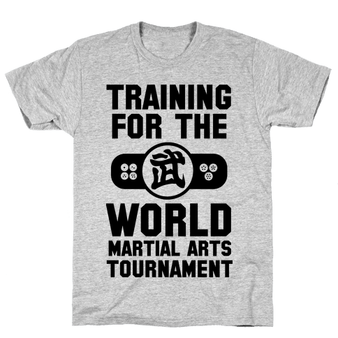 Training for the World Martial Arts Tournament Mens T-Shirt