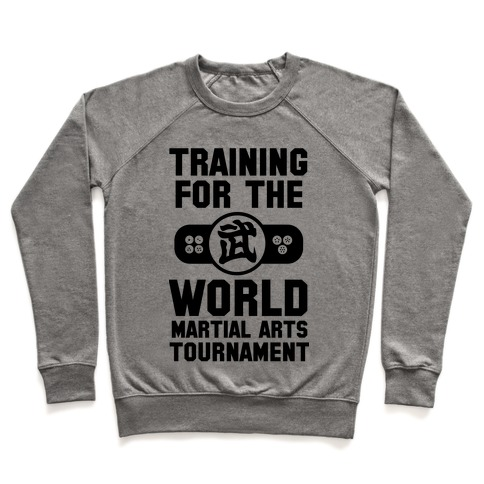 Training for the World Martial Arts Tournament Pullover