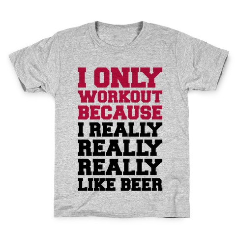 Beer Workout Kids T-Shirt