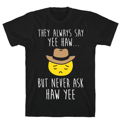 Sad Cowboy Emoji Mens/Unisex T-Shirt