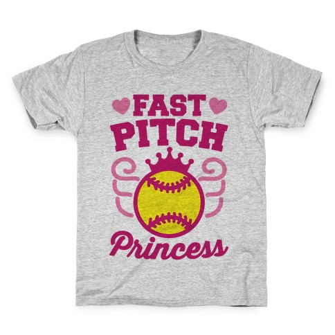 Fast Pitch Princess Kids T-Shirt