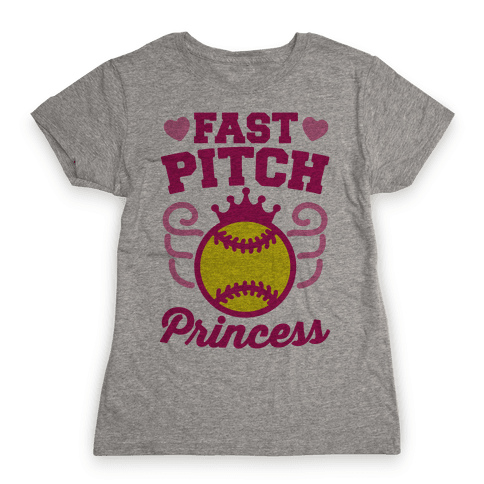Fast Pitch Princess Womens T-Shirt
