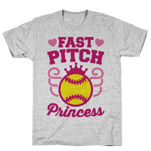Fast Pitch Princess Mens T-Shirt