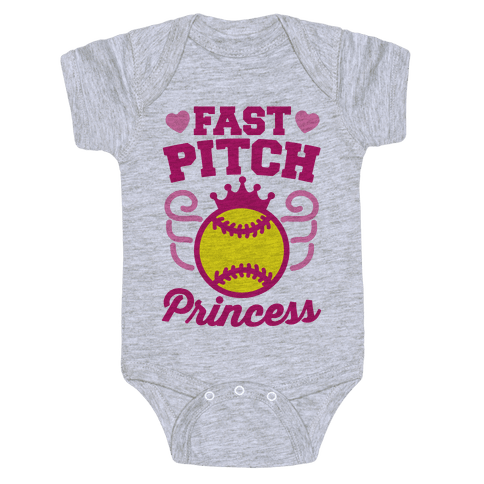 Fast Pitch Princess Baby Onesy