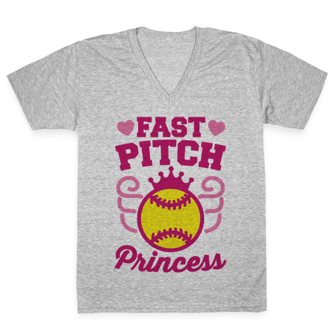 Fast Pitch Princess V-Neck Tee Shirt