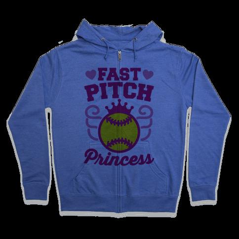 Fast Pitch Princess Zip Hoodie