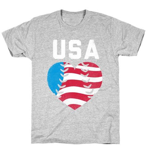 USA Baseball Love T-Shirt
