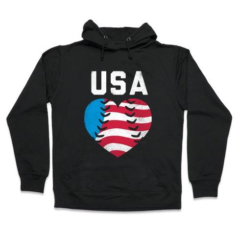 USA Baseball Love Hooded Sweatshirt