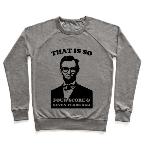 Hipster Abe (Patriotic Baseball Tee) Pullover