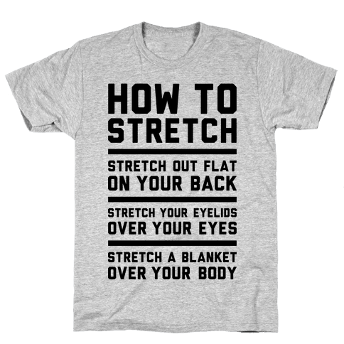 How To Stretch Mens T-Shirt