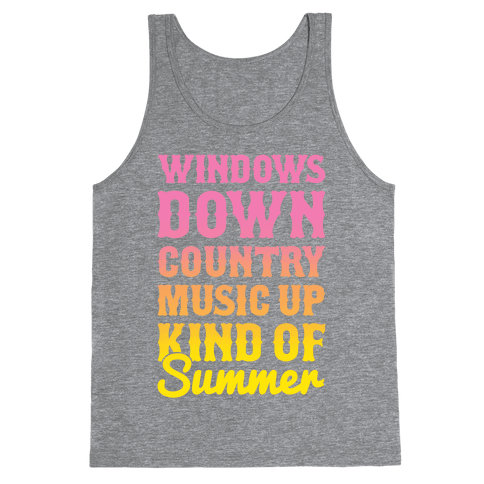 Windows Down Country Music Up Tank Top