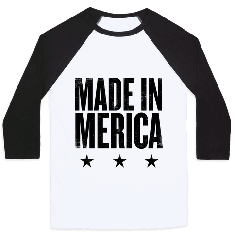 Made In Merica Baseball Tee