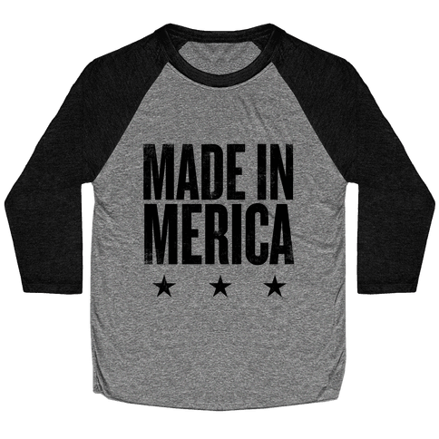 Made In Merica Baseball Tee