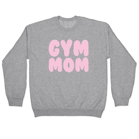 Gym Mom White Print Pullover