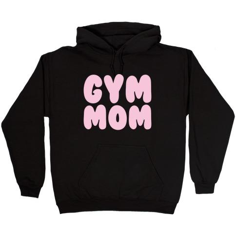 Gym Mom White Print Hooded Sweatshirt