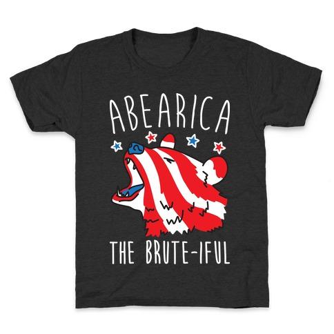ABEARica The Brute-iful Merica Bear Kids T-Shirt