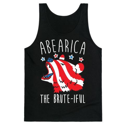 ABEARica The Brute-iful Merica Bear Tank Top