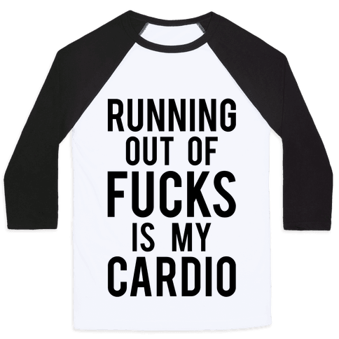 Running Out Of F***s Baseball Tee