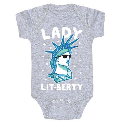 Lady Lit-berty (White) Baby Onesy