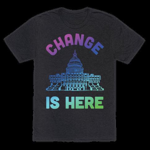 Change Is Here Congress Mens T-Shirt