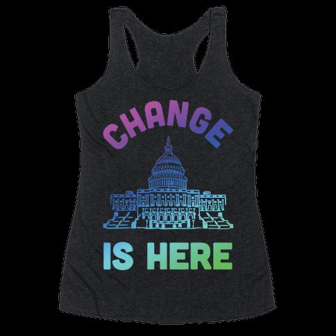 Change Is Here Congress Racerback Tank Top