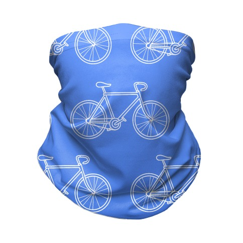 Bikes Blue Gradient Neck Gaiter