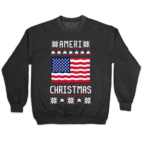 Ameri' Christmas Ugly Sweater Pullover
