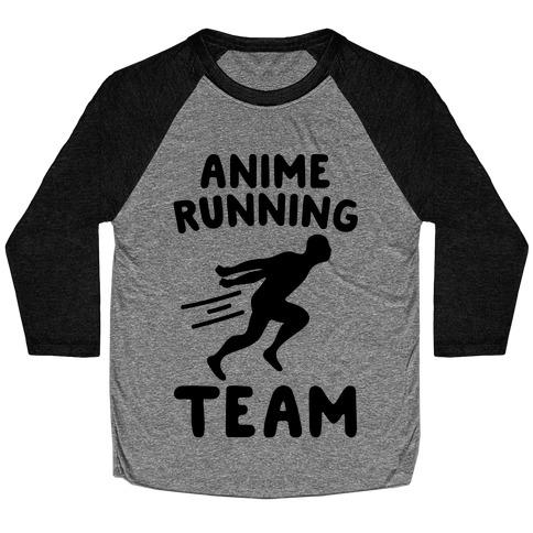 Anime Running Team Baseball Tee