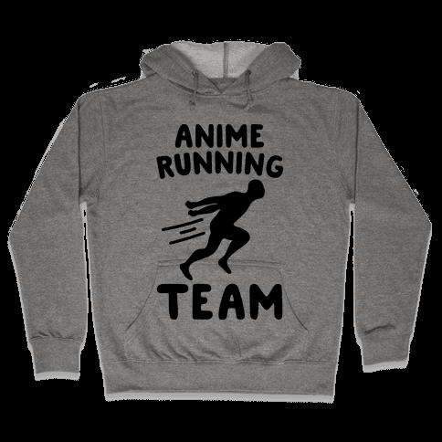 Anime Running Team Hooded Sweatshirt