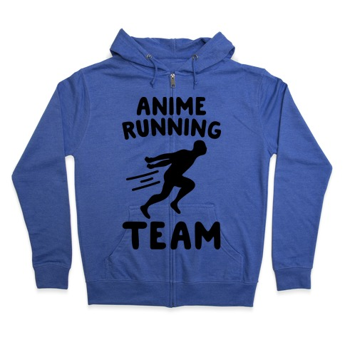 Anime Running Team Zip Hoodie