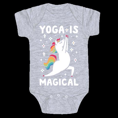 Yoga Is Magical Baby Onesy