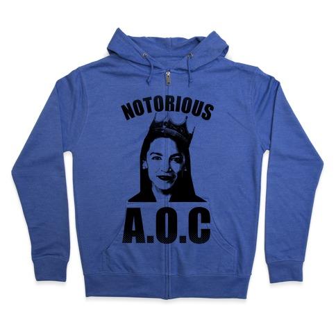 Notorious AOC (Alexandria Ocasio-Cortez) Zip Hoodie