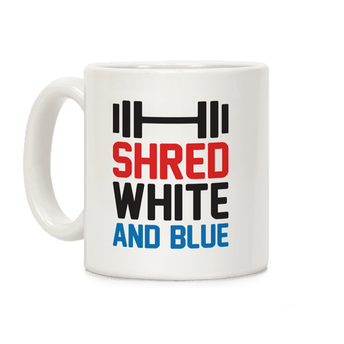 Shred White And Blue Coffee Mug