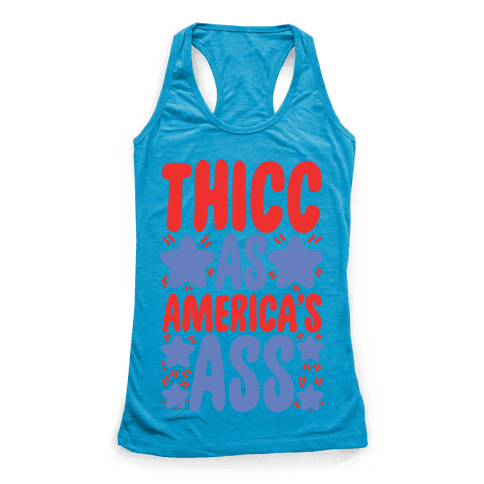 Thicc as America's Ass Racerback Tank Top