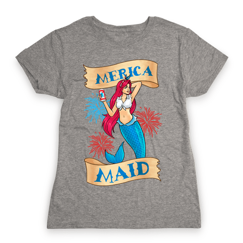 Merica Maid Womens T-Shirt