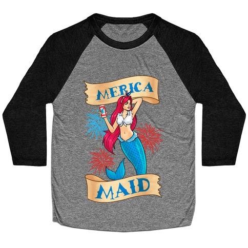 Merica Maid Baseball Tee