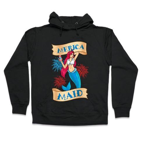 Merica Maid Hooded Sweatshirt