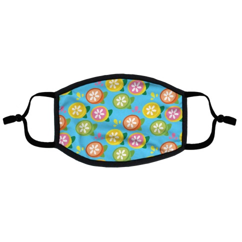 Citrus Fruits Pattern Flat Face Mask