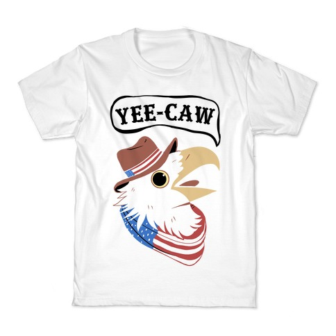 YEE-CAW American Bald Eagle Kids T-Shirt