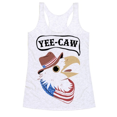 YEE-CAW American Bald Eagle Racerback Tank Top