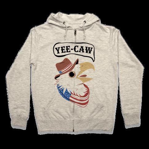YEE-CAW American Bald Eagle Zip Hoodie