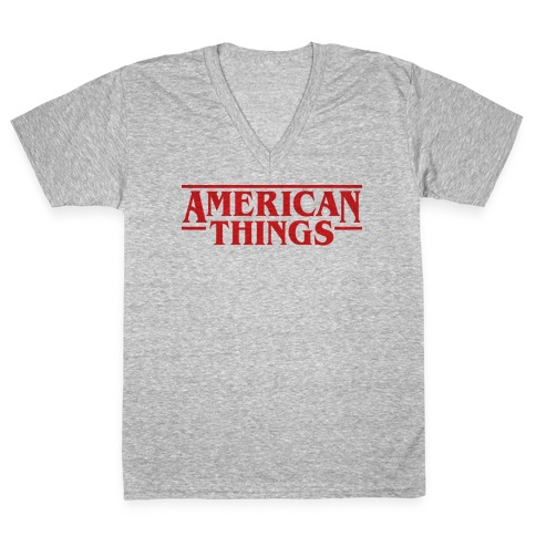 American Things V-Neck Tee Shirt