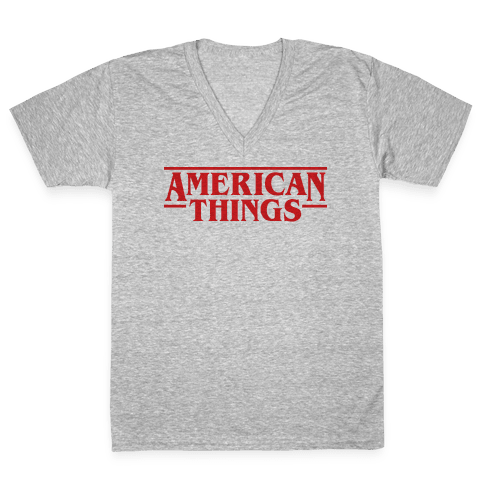 American Things V-Neck Tee Shirt
