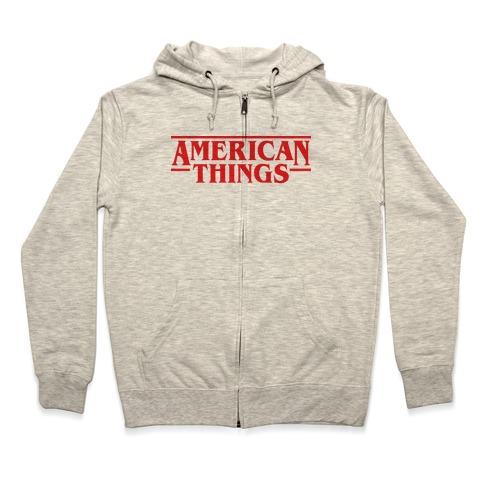 American Things Zip Hoodie