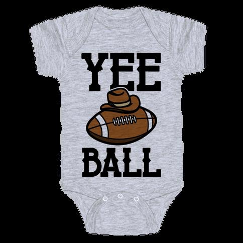 Yee Ball (Football) Baby Onesy