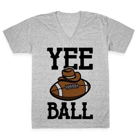 Yee Ball (Football) V-Neck Tee Shirt