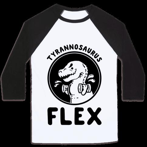 Tyrannosaurus Flex Baseball Tee