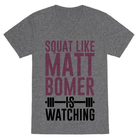 Squat Like Matt Bomer Is Watching V-Neck Tee Shirt